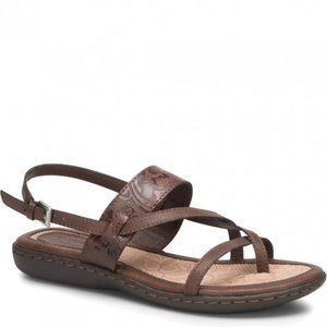 boc Sophina Embossed Strappy Sandals,